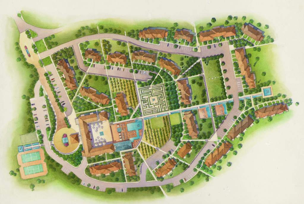 Architectural Plans Colored Architectural Site Plan